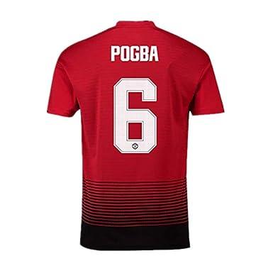 check out 682aa d5018 Amazon.com: Manchester United Home #6 Pogba 2018-2019 Season ...