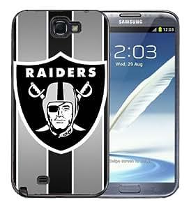 Samsung Galaxy Note 2 Black Rubber Silicone Case - Raiders Football NFL Raider Nation Oakland Raiders