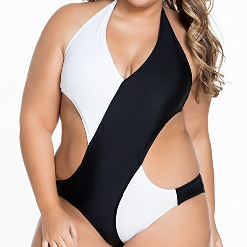 Explosionen schicke Farbe Kreuz Bikini sexy V Neck XL Stück Badeanzüge,L
