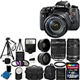 Canon EOS Rebel T6s Digital SLR Camera + EF-S 18-135mm IS STM Lens + EF-S 55-250mm IS STM Lens + 58mm 2x Lens + 58mm Wide Angle Lens + Auto Flash+ UV Filter Kit + 32GB Complete Deluxe Accessory Bundle