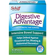 Digestive Advantage Intensive Bowel Support - Probiotic that defends against gas & bloating, 96 Capsules