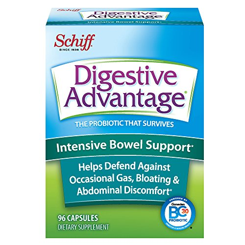 Digestive Advantage Intensive Bowel Support - Probiotic that defends against gas & bloating, 96 Capsules Regular Bowel Movements