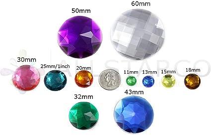 80 x 11mm  Clear Flower Diamante Rhinestones Gems Scrapbooking