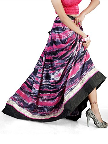 Export And Indian Handicrfats Women Black Pink Skirt Georgette Admyrin 57Zw7