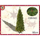 Albero Di Natale Modello Cervino con pigne Colore Verde (180 cm)