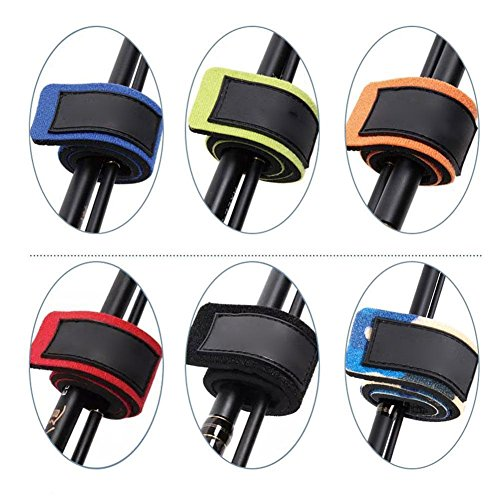 Pack of 6 Fishing Rod Belts Ties Stretchy Magic Bait Casting Spinning Rod Straps Holders Fishing Tackle Tie Bag…