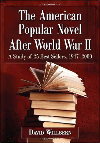 Amazon Com The American Popular Novel After World War Ii A Study