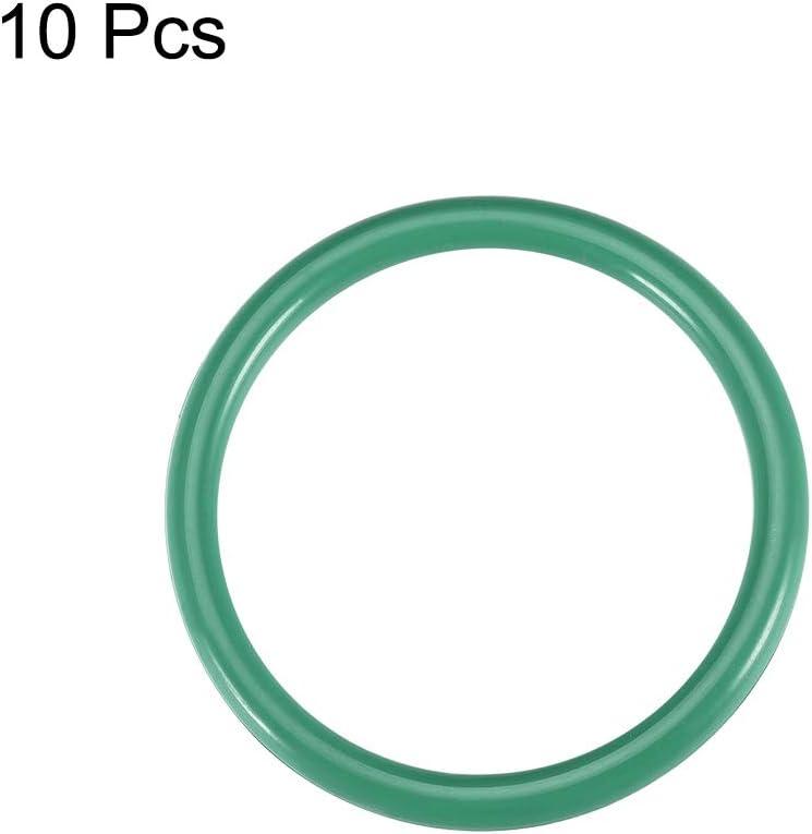 sourcing map Gomma al Fluoro Anello per Toroidale 19-34mm Diametro Interno 3,5mm Larghezza Guarnizione Tenuta Verde 10pz 28mmx35mmx3.5mm