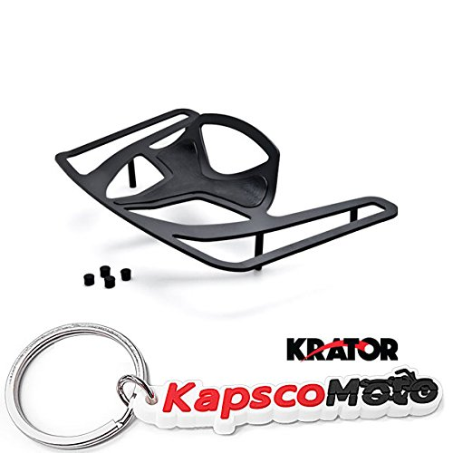 Krator Luggage Rack Black Cargo Travel Rack For Honda Goldwing GL1800 Models 2001-2016 Luggage Rack Black Cargo Travel Trunk Rack Mount + KapscoMoto Keychain