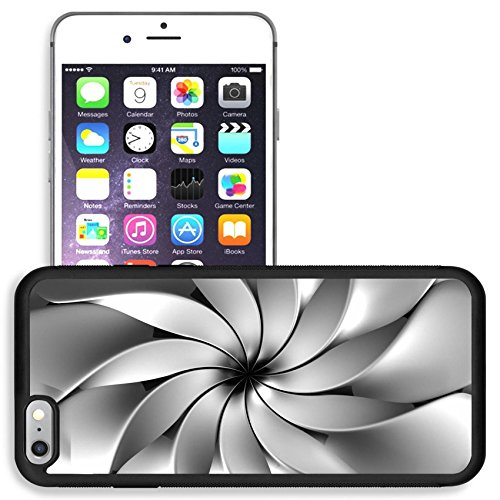 Liili Apple iPhone 6 plus iPhone 6S plus Aluminum Backplate Bumper Snap iphone6plus/6splus Case iPhone6 ID: 22027679 Silver abstract luxury flower petal background 3d illustration
