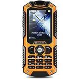 BC Master IP68 teléfono móvil del teléfono impermeable a prueba de polvo a prueba de choques al aire libre celular reforzado dual SIM(naranja)