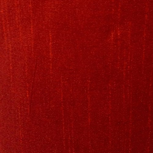Faux Silk Poly Dupioni Shantung Fabric 100% Polyester for Apparel Home Decor Dupion By the Yard (Red)