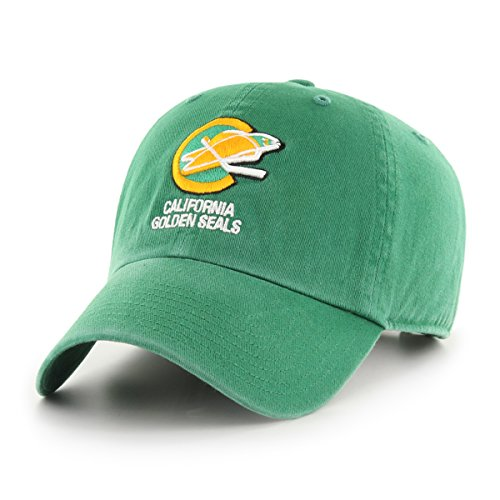 NHL California Seals OTS Challenger Adjustable Hat, Kelly, One Size (Seal Challenger)