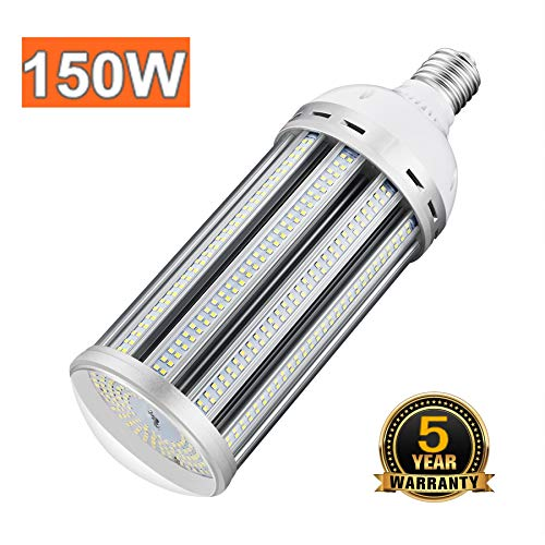 150W Led Corn Light Bulb 5000K Daylight E39 Mogul Base Led Bulbs Replacement (600-800W) Metal Halide/HID/CFL/HPS for High Bay Shop Lights Garage Warehouse Ceiling Lights 100-305volt