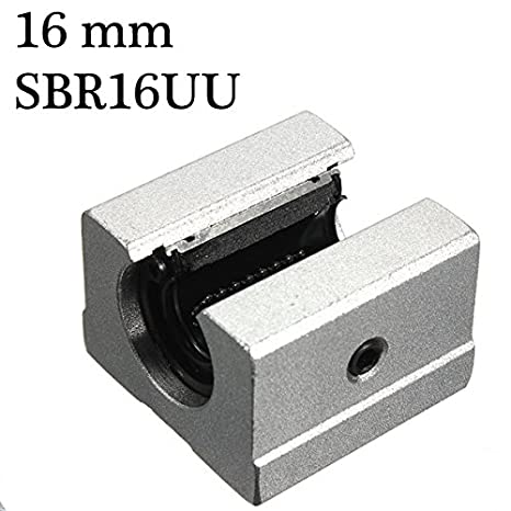 4Pcs 20mm SBR20UU Router Motion Bearing Solide Block Unit XYZ CNC SBR Series