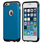 iPhone 6/6s Case, LUVVITT [Ultra Armor] Shock Absorbing Case Best Heavy Duty Dual Layer Tough Cover for iPhone 6 / iPhone 6s - Black / Metallic Blue Reviews