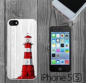 Lighthouse on Wood Custom made Case/Cover/skin FOR iPhone 5/5s - White - Rubber Case