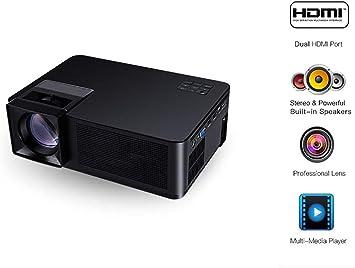 LED proyector portátil 3000 lúmenes, con 16.7K reproducción del ...