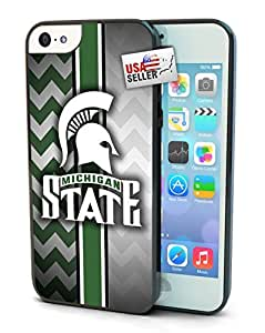 Michigan State Spartans Chevron Print Cell Phone Hard Protection Case for iphone 5c
