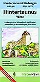 Hintertaunus West 1 : 25 000, Blatt 43-556: Wanderkarte mit Radwegen, Aarbergen, Bad Schwalbach, Heidenrod, Hohenstein, Katzenelnbogen, Nastätten