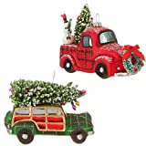 Raz Imports 4'' Vintage Automobile Christmas Ornaments - 6 Pack