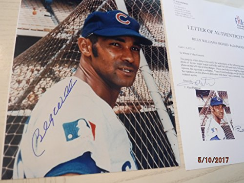BILLY WILLIAMS Show Signed Cubs 8x10 Photo -First Hand Authenticated ()