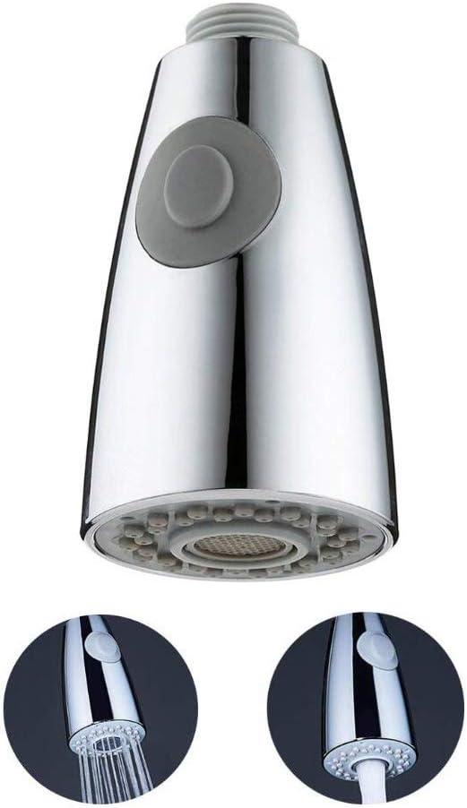 Fregadero Deslizable Grifo G1//2 Rosca Recta 2-Funci/óN Corriente Flujo Aireado,Acabado Cromo Pull-Out Spray Head Alcachofa Ducha Cocina