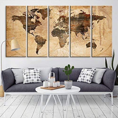 World Map Wall Art Amazon.com: Sephia World Map Wall Art, World Map Canvas, World Map