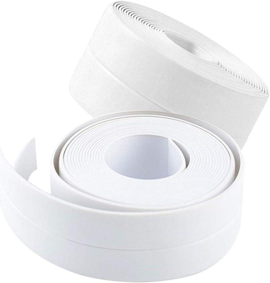 Amazon Com 2 Pack Tape Caulk Strip Pvc Self Adhesive Caulking