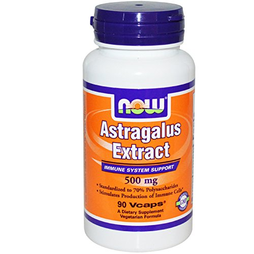 Astragalus Extract 500mg 90 VegiCaps (Pack of 2)