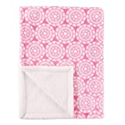 Hudson Baby Blanket with Sherpa Backing, Medallion