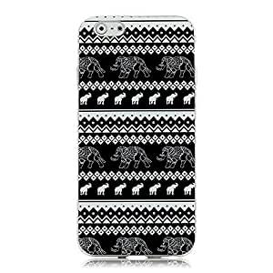 """iPhone 6 (4.7"""") Case - Sunshine Case Mobile Phone Accessory Case Fashion Style Painted Colorful Pattern TPU Case Protetive Hard Phone Cover Case Cell Phone Back Cover Case for iPhone 6 (4.7"""") 4.7 inch Cover shell (Tribal Style Elephant) by icecream design"""
