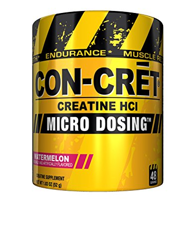 CON-CRET Creatine HCI Micro-Dosing Pre Workout Powder for Muscle Building, Endurance, and Recovery, 48 Servings, Watermelon