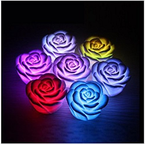 Led Color Changing Rose Shaped Light - 2