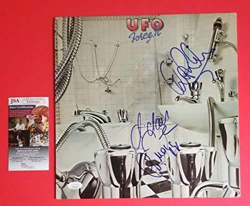 Ufo X3 Autographed Signed Memorabilia Force It Lp Album Phil Mogg Michael Schenker 1 With JSA Authentic PSA