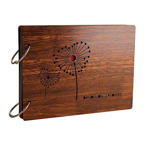 Jia Hu bricolaje autoadhesivo álbum de fotos de madera de clásico imagen aniversario álbumes memoria de almacenamiento...