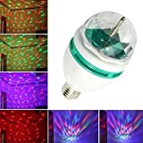 LLFS Rotating LED Strobe Bulb Multi changing Color Crystal Stage Light Disco Light Colors Dance Parties 3-Watt