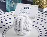 108 White Nautical Cotton Rope Place Card Holders