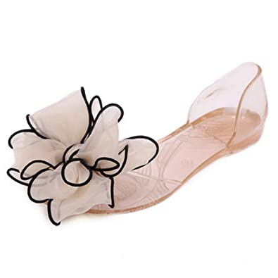 656c7aae817 LIURUIJIA Sweet Bowknot Women Sandals Summer Jelly Shoes Woman Crystal  Transparent Flats Casual Beach Ladies Shoes