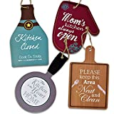Gift Boutique Kitchen Theme Plaques Wooden Hanging Wall Art Home Decor Set of 4 Shaped Word Signs Modern Paintings 5 x 8 inches For Office Bar Bedroom Bathroom Living & Dining Decoration Accessories