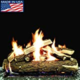Myard DELUXE 36'' inches Country SPLIT Fire Gas Logs (LOGS ONLY) for Natural Gas / Liquid Propane Vented Fireplace