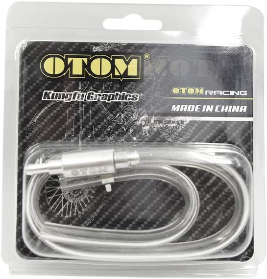 OTOM Motorcycle Car Brake Bleeder Pipes Clutch Brake Bleeder Hose One Way Valve Tube Bleeding Tool Kit for CRF SXF KX RM FC FE FX WR YZ