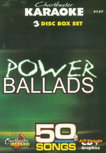 Chartbuster Karaoke CDG 3 Disc Pack CB5137 - Power Ballads by Chartbuster (3 Disc Karaoke)