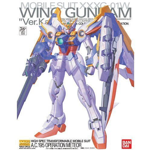 Bandai Hobby Wing Gundam VER.Ka, Bandai Master Grade Action Figure (Best Master Grade Gundam Models)