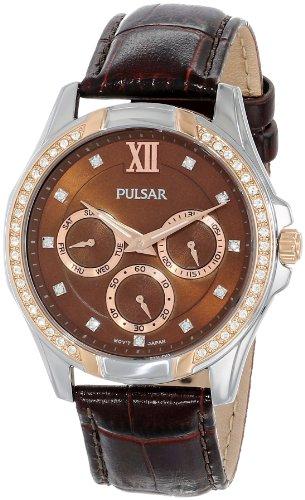 Pulsar Women's PP6098 Analog Display Japanese Quartz Brown Watch