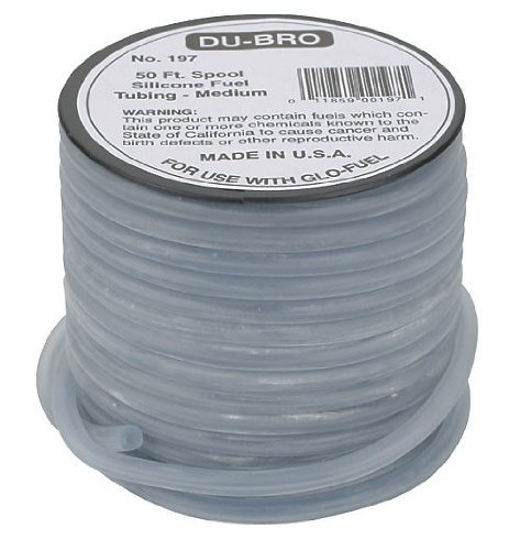 Dubro Silicone 50' Fuel Tubing (Silicone Fuel Blue Tubing, Medium, 50' by Dubro Products)