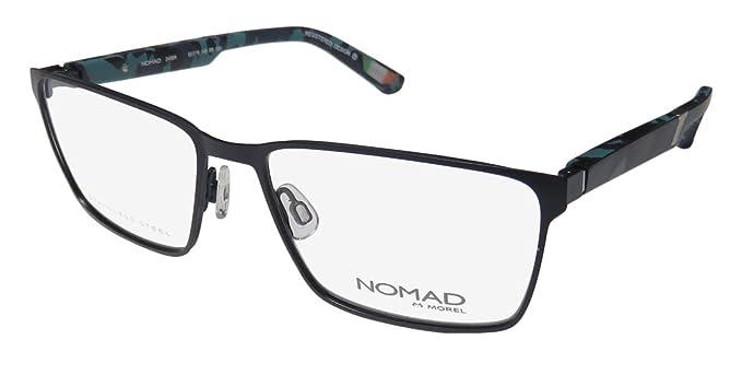 5358d8d13e6b Nomad By Morel 2499n Mens/Womens Designer Full-Rim Shape Flexible Hinges  Modern Stainless