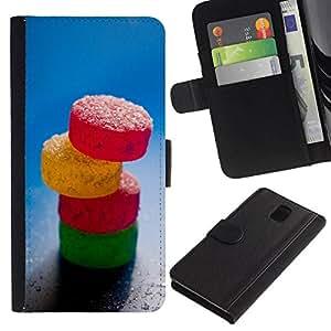 All Phone Most Case / Oferta Especial Cáscara Funda de cuero Monedero Cubierta de proteccion Caso / Wallet Case for Samsung Galaxy Note 3 III // Sweet Candy