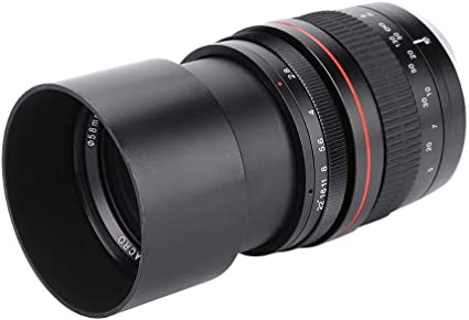 Nikon F Bewinner Lente de Montaje de c/ámara Negra para Nikon F DSLR 135 mm F2.8 DSLR Lente de c/ámara Teleobjetivo de fotograma Completo Apertura Grande Lente de Enfoque Fijo Manual