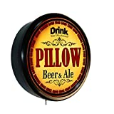 PILLOW Beer and Ale Cerveza Lighted Wall Sign